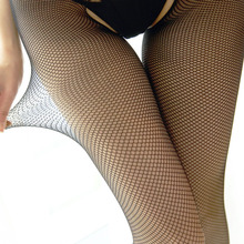 Sexy Fishnet Tights Women Elastic Pantyhose Hollwo Out Crotchless Tights Ladies Open Crotch Tights Collant Femme(China)
