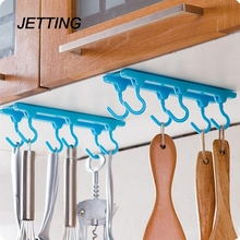 JETTING Bathroom Shelves Fashion Style Kitchen Cupboard Cooking Tools Hanger Rack Ceiling Hanging Rack Hooks Kitchen Accessories(China)