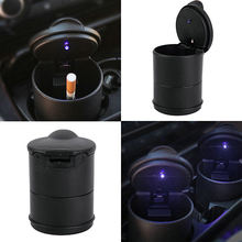 Summer Discount Fashion 2016 Portable Auto Car Truck LED Cigarette Smoke Ashtray Ash Cylinder Cup Holder BIIL(China)