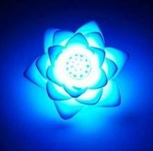 10PCS Romantic LED Lotus Flower Night Light Festival Party  Decoration Nightlight Atmosphere Lamp   lamps for bedroom