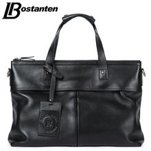 BOSTANTEN Cow Leather Men Crossbody Bags Handbags Men Totes Genuine Leather Vintage Men Briefcases Laptop Men Shoulder Bags New