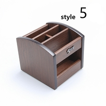 Wooden Dest Set Mini Office Desk Accessories Small Office Supply Wooden Office Organizer 8 Style ufficio accessori da scrivania