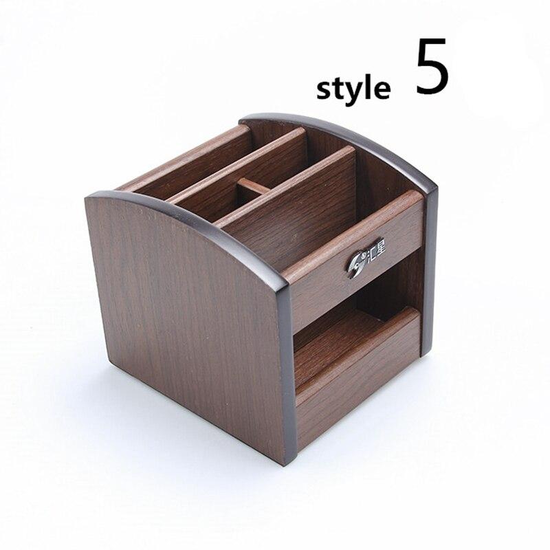 Wooden Dest Set Mini Office Desk Accessories Small Office Supply Wooden Office Organizer 8 Style ufficio accessori da scrivania<br>