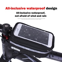 DUUTI Waterproof/Reflective 3.5''-5.7'' panniers Frame Front Tube Cycling Bicycle Bag MTB Bike TPU Touch Screen Case Accessories(China)