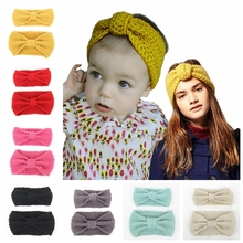 Hot Sale Mom and Me Crochet Winter Headband Set Women Knit Headband Infant Crochet Headband Twist Warmer For Girl 1Set
