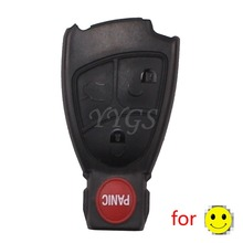 Remote Smart Key Shell Case For Benz 4 Buttons 3+ 1 Panic E C R CL GL SL CLK SLK 3+1 BT With Logo ABS