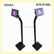 for mini iPad floor stand with charging cable security display kiosk standing with lock specialized frame