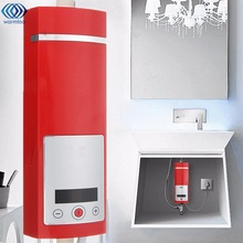 Electric Hot Water Heater 5500W Digital Display Instant Intelligent Temperature Control Touch Type Shower Room New Upgrade(China)