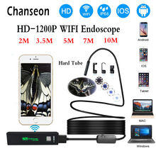 Chanseon Wifi Smart Phone Endoscope Camera 1200P HD 8mm Android Windows IOS Borescope Waterproof IP68 Tube Inspection - Store store