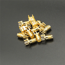 50pcs Gold RP-SMA female plug center solder PCB clip edge mount RF Coxial connectors for Mobile signal booster repeater Antennas