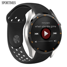 SPORTIMES Smart Men Watch With Call Weather Music Google Map Microphone Bluetooth 4.0 Twitter 3G/WiFi/GPS SIM Card Relojes A5