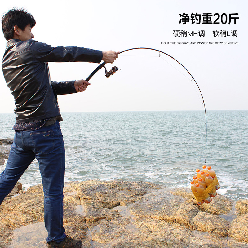 (Carbon Tip + Glass Tip) 2 Solid Tips  MH/L  2.1m 10-20LBS Spinning Rod Casting Rod Carbon Fishing Lure Rod Fishing Tackle  <br>