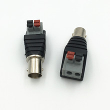 20Pcs Terminal Camera CCTV BNC Female UTP Video Balun Connector Cable Adapter Plug Pressed Connected