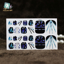 YB008 New Fashion Auto Stick Toe Nail Art Foil Stickers Colorful Crystal Style Purple Diamond Manicure Adhesive Decal Nail Wraps