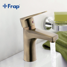 Frap Bronze Basin faucet Brass body Faucets Mixed hot and cold water taps F1030-4(China)