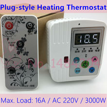 High Power Digital Thermostat for Electrical Heater  Floor Heating Switch Temperature Controller 5-45 C  Max. Load 16A 3000W