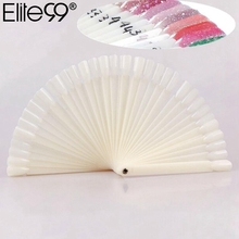 Elite99 50 pcs/lot Fan Board Display Nail Art Tips False Round Hoop Stick Practice for Polish Gel Full Cover False Nail Art Tips(China)