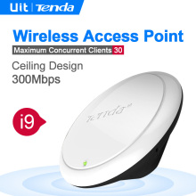 Tenda i9 celling N300 wireless access point,AP,Up to 20 users stay online,300m2 Coverage, Enterprise/Hotel/School/Store
