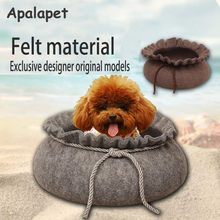 Cat House DIY Round Grey Pet Kennels Cage Soft Warm Princess Dog Beds luxury Cat Bed For Dog Sleeping Bag Pet Supplier
