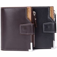 Men Wallet Coin Bag zipper ID Credit Card Holder Bifold Coin Purse Top Brand Wallet Pockets Promotion Gift