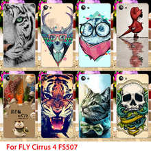 Soft TPU Phone Cases For Fly Cirrus 4 FS507 Cute Animals Hard Cell Phone Back Covers Housings Sheaths Skins Shields Hood Bags