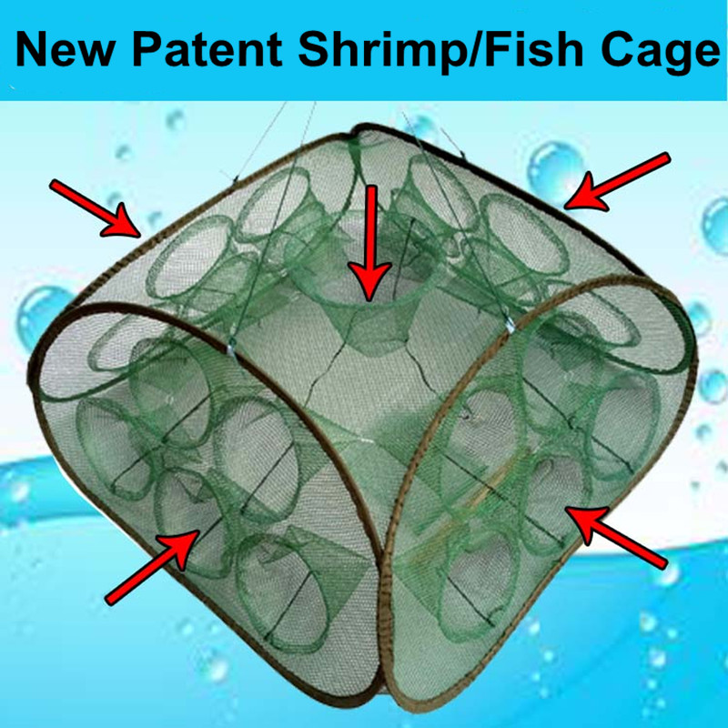 21 Inlets Syncronisation Cage Automatic Shrimp Cage Folding Fishing Net Cage Cast Fishing Net Tackle<br><br>Aliexpress