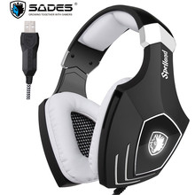Sades A60S/OMG USB Gaming Headphones for Computer Laptop PC Gamer Game Headset Best Bass Casques with Microphone Noise Isolating(China)