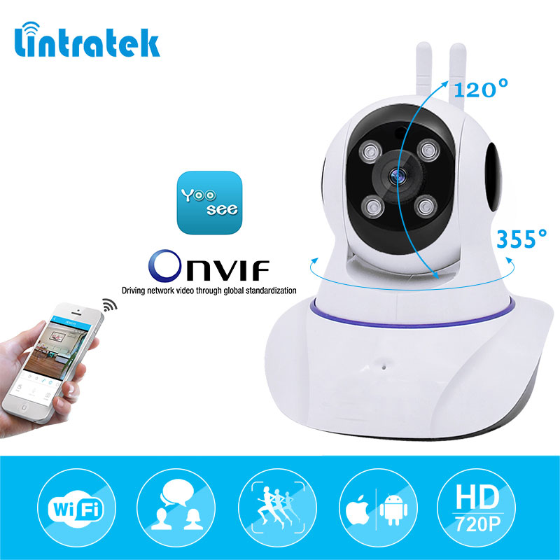 lintratek hd 720P mini Surveillance Security Camera Wifi Wireless IP Camera Baby Monitor IR infrared 10m Night Vision Camera C<br>