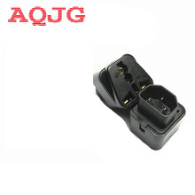 1 to 2 IEC 320 C14 Male to C13 Female Power Adapter PDU/UPS C13 Universal Female AU/US/UK/EU special conversion plug AQJG(China)