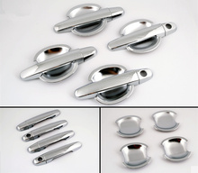 FUNDUOO Chrome Car Door Handle Cover + Cup Bowl combo For Toyota Yaris Vios 2006 2007 2008 2009 2010 Toyota Corolla 2003 - 2013