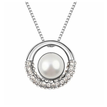 Wedding necklace fashion imitation pearl pendant womens party jewellery