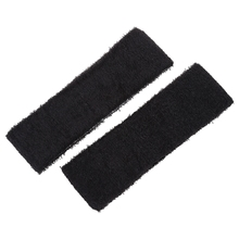 2 PCS Running Exercise Elastic Terry Cloth Headband Sweatband Black(China)