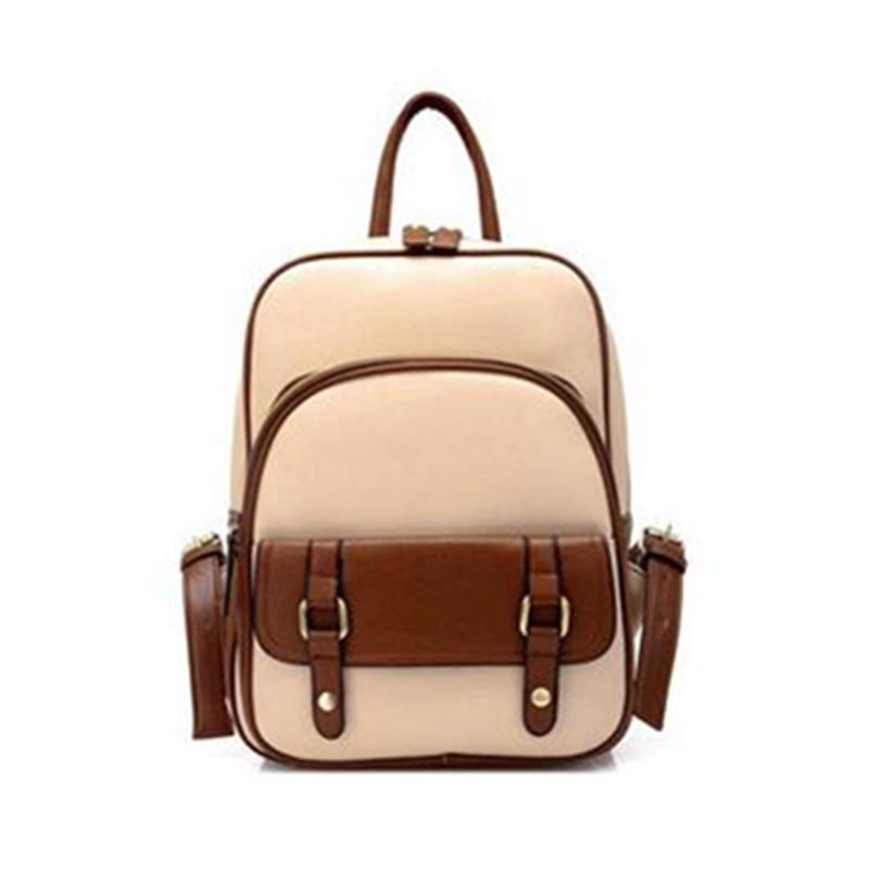 Women Backpack PU Leather Student schoolbag Waterproof Teenage Girls Travel Backpack Book Bags Female Shoulder Leather Bag ZD567<br><br>Aliexpress