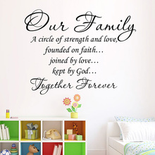 Removable Wall Sticker Our Family Together Forever Adhesive Art Words Decals Quotes Adhesive Letters Home Decor Living Room
