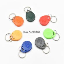 100pcs/lot  EM4100 TK4100 100pcs/Lot EM ID keyfobs RFID Tag key Ring card 125KHZ Proximity Token Access Control Attendance