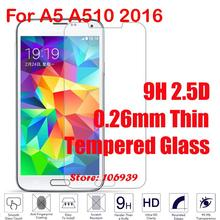 Ultra Thin Cheap 9H Hard 2.5D 0.26mm Phone Accessories Glass Screen Protector For Samsung Galaxy A5 A510 2016 A 510F