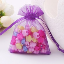 50PCS Organza Gift Bags Drawstring Pouch Wrap Drawstring Jewelry Packaging Bags For Wedding Christmas Gift Hot Sale