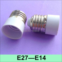 2X E27 E14 Lamp Converter Buld Light Adapter E27-E14 Lamp Base Holder E27 to E14 Fitting Socket(China)