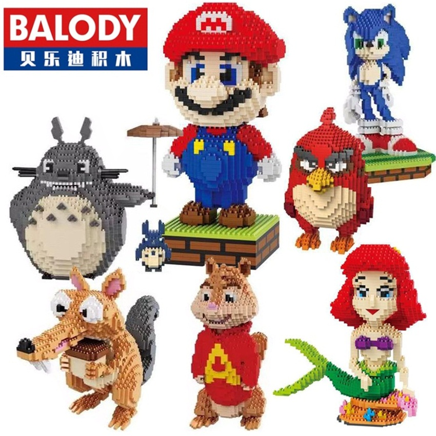 Balody Mini Blocks Big Size Mario DIY Building Toys Large One Piece Bricks Cute Auction Juguetes for Kids Toys 16001-16009<br><br>Aliexpress