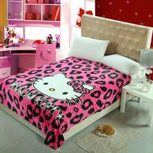 sexy rosy black Hello Kitty Blankets Throw Bedding 150*200CM Size Baby Kid Girls Children's Bed Home Bedroom Decoration Flannel