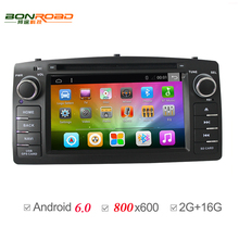 Android 6.0 Allwinnder T3 2Din Car DVD GPS For Toyota Corolla E120 2001-2006 GPS Navigation For BYD F3 DDR3 2G RAM 16G Flash