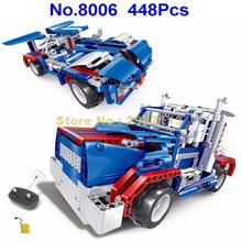 8006 448pcs 2in1 Technic Remote Control RC Sportscar Truck Racing Car Starry Sky Building Block Brick Toy