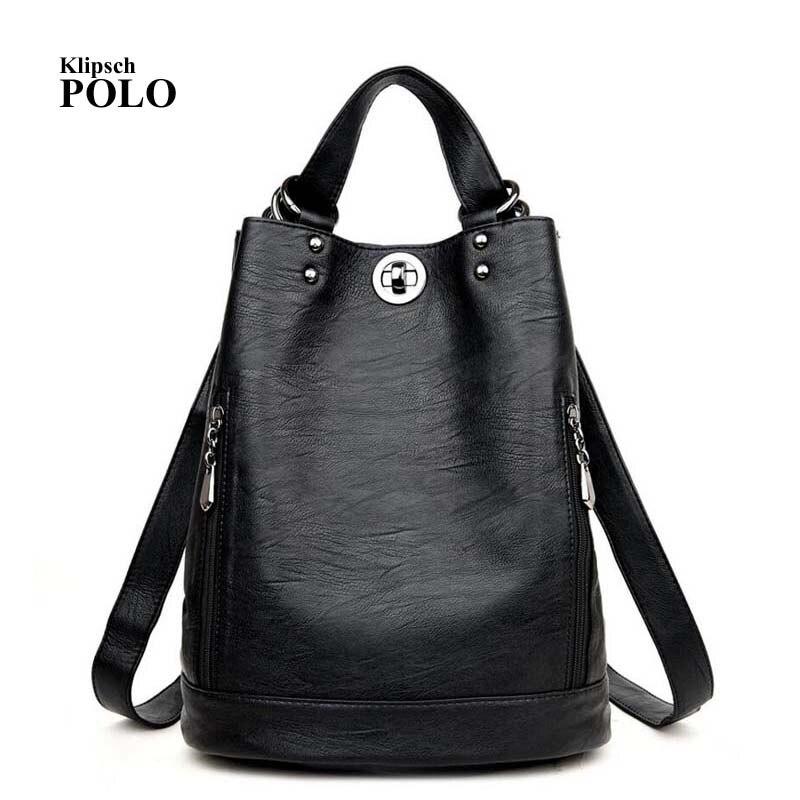 Designer Womens Backpacks Genuine Leather Female Backpack Women School Bag For Girls Large Capacity Shoulder Travel Mochila<br>