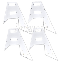 4Pcs White Pickguard 3-ply PVC Guitar Scratch Plate New for Electric Guitar Repacement