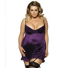 Hot Sale Sexy Women Lingerie 4 Colors  Erotica Dress 2016 Big Discount Babydoll High Quality Plus Size Erotico Nightgown Garters