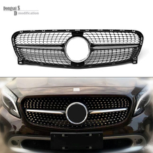 Replacement Mercedes Diamond Grill Front Bumper Grill Racing Grille Mesh For Benz GLA Class X156 2015 2016 GLA 200 GLA250 GLA45