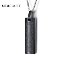 Meaeguet Trending Christian Cross Cylinder Pendant Necklace Men 316L Stainless Steel Boutique Bible Jesus Necklaces Jewelry