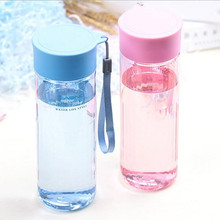 Promotion! 600ml Student Space Water Bottles Portable Tea Leave Hand Sports Kettle Couple Bottles with a Rope(China)