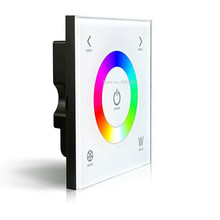 D4 Touch Led RGBW Controller DC12-24V 4A*3CH Output Glass Touchable Wall Mount RGBW Led Full Color Controller 5 YEAR WARRANTY