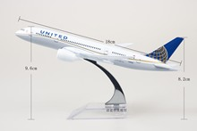 (3pcs/pack) Brand New 1/350 Scale Airplane Model Toys United Airlines Boeing787 DreamlinerDiecast Metal Plane Model Toy